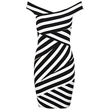 Buy Miss Selfridge Stripe Bardot Bodycon Dress, Multi Online at johnlewis.com
