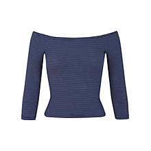 Buy Miss Selfridge Striped Bardot Top, Multi Online at johnlewis.com
