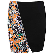 Buy Miss Selfridge Asymmetric Print Zip Skirt, Multi Online at johnlewis.com