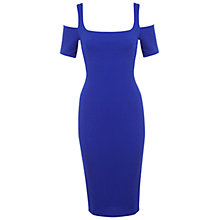 Buy Miss Selfridge Shoulder Dress, Bright Blue Online at johnlewis.com