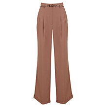 Buy Miss Selfridge High Waist Wide Leg Trousers, Camel Online at johnlewis.com