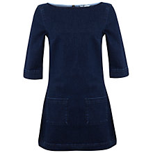 Buy Miss Selfridge Denim Patch Pocket Dress, Blue Online at johnlewis.com