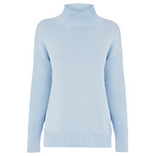 Buy Warehouse Chunky Knit Jumper, Light Blue Online at johnlewis.com