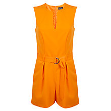 Buy Miss Selfridge D-Ring Playsuit, Orange Online at johnlewis.com