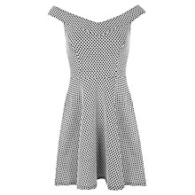 Buy Miss Selfridge Monochrome Jacquard Dress, Black/White Online at johnlewis.com