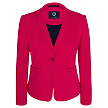 Buy Viyella Ponte Jacket, Raspberry Online at johnlewis.com