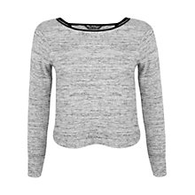 Buy Miss Selfridge Wrap Back Top, Grey Online at johnlewis.com