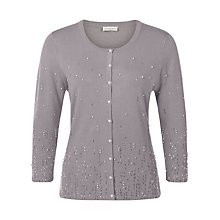 Buy Jacques Vert Embellished Cardigan, Brown Online at johnlewis.com