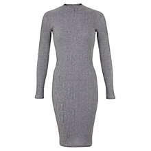 Buy Miss Selfridge Ribbed High Neck Dress Online at johnlewis.com