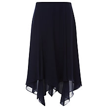 Buy Jacques Vert Petite Chiffon Hanky Hem Skirt, Navy Online at johnlewis.com