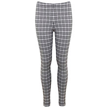 Buy Miss Selfridge Mini Check Tube Trousers, Multi Online at johnlewis.com