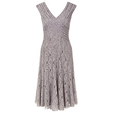 Buy Jacques Vert Petite Taped Lace Dress, Brown Online at johnlewis.com