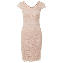 Buy Jacques Vert Petite Lace Dress, Pink Online at johnlewis.com
