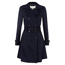 Buy Hobbs Nola Trench Coat, Navy Online at johnlewis.com