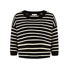 Buy Hobbs Jodie Jumper, Black/Stone Online at johnlewis.com
