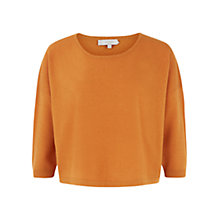 Buy Hobbs Corina Jumper, Russet Orange Online at johnlewis.com