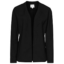 Buy Reiss Bernice Scallop Detail Jacket, Black Online at johnlewis.com