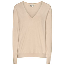 Buy Reiss Roberta Scallop Edge Jumper, Mink Online at johnlewis.com