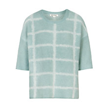 Buy Reiss Faye Checked Jumper, Salt White Online at johnlewis.com