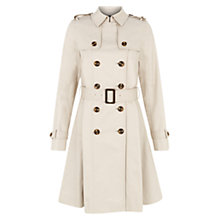 Buy Hobbs Annora Trench Coat, Limestone Online at johnlewis.com