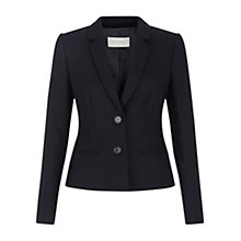 Buy Hobbs Coralie Wool Jacket, Navy Online at johnlewis.com