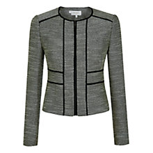 Buy Hobbs Lilibeth Jacket, Black/Neutral Online at johnlewis.com