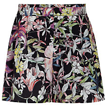 Buy Reiss Felix Printed Shorts, Black Online at johnlewis.com