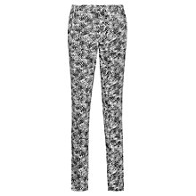 Buy Reiss Olivia Printed Trousers, Black/White Online at johnlewis.com