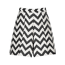 Buy Reiss Fillipa Culottes, Black/White Online at johnlewis.com
