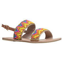 Buy Miss KG Roxanne Leather Beaded Sandals, Multi Online at johnlewis.com