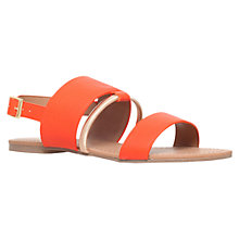 Buy Miss KG Delina Flat Sandals, Orange Online at johnlewis.com