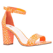 Buy Miss KG Paige Patterned Heeled Sandals, Orange Online at johnlewis.com