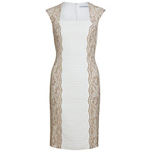 Buy Gina Bacconi Lace Panel Jersey Dress, Beige Online at johnlewis.com
