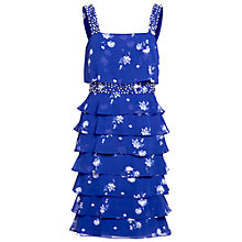 Buy Gina Bacconi Tiered Frill Dress, Carbon Blue Online at johnlewis.com