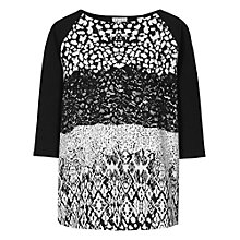 Buy Reiss Melinda Printed Sweatshirt, Black Online at johnlewis.com