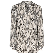 Buy Reiss Turner Printed Shirt, Gardenia Online at johnlewis.com