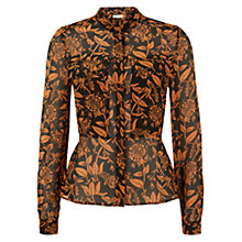 Buy Hobbs Honeysuckle Shirt, Black Russet Online at johnlewis.com