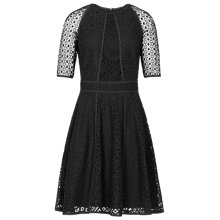 Buy Reiss Bounty Panelled Lace Dress, Black Online at johnlewis.com
