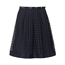 Buy Reiss Anya Overlay Skirt, Night Navy Online at johnlewis.com