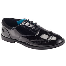 Buy John Lewis Chelsea Lace Brogues, Black Patent Online at johnlewis.com