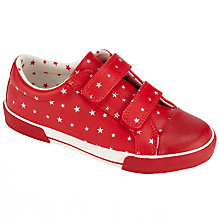 Buy John Lewis Ellie Star Print Casual Trainers, Pink Online at johnlewis.com