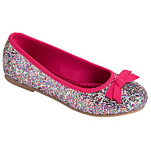 Buy John Lewis Glitter & Bow Ballet Pump Shoes Online at johnlewis.com