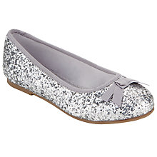 Buy John Lewis Izzy Glitter & Bow Ballet Pump Shoes Online at johnlewis.com