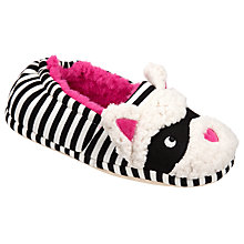 Buy John Lewis Children's Masked Cat Slippers, Black/Pink Online at johnlewis.com