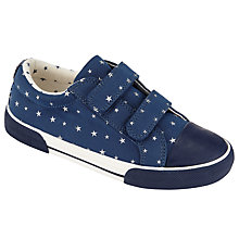 Buy John Lewis Ellie Star Double Strap Canvas Trainer, Navy Online at johnlewis.com