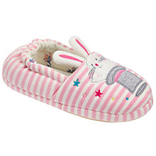 Buy John Lewis Magic Bunny Slippers, Pink/Cream Online at johnlewis.com