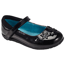 Buy John Lewis Victoria Flower Mary-Jane Pumps, Black Patent Online at johnlewis.com