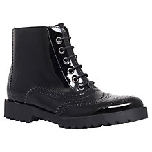 Buy Carvela Success Lace Up Ankle Boots, Black Online at johnlewis.com