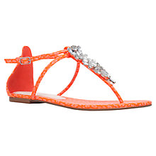 Buy Miss KG Delight Embellished Sandals, Orange Online at johnlewis.com