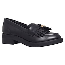 Buy Carvela Letter Leather Loafers, Black Online at johnlewis.com